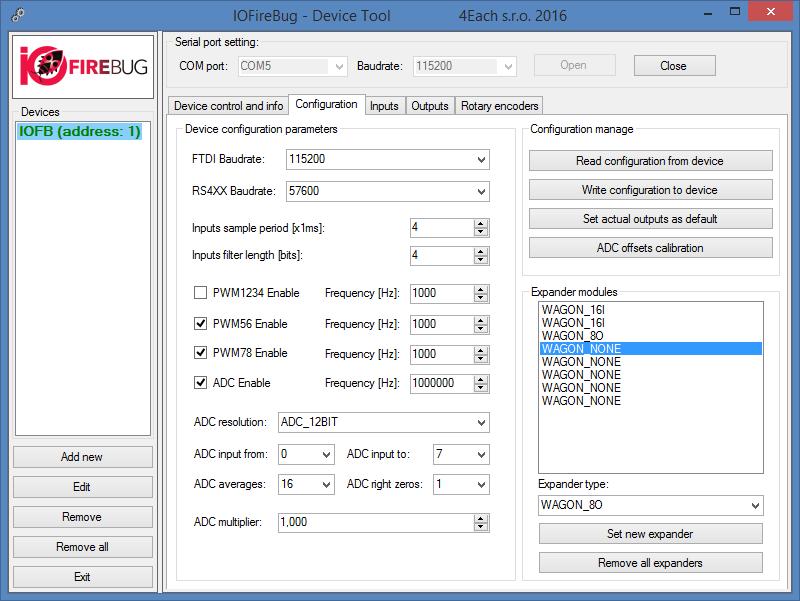 DeviceTool manual – IOFireBug